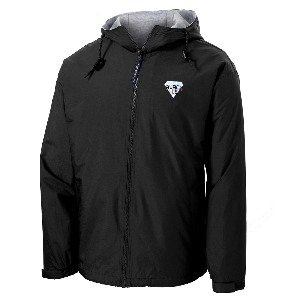 Black Ice Softball  Hooded Jacket