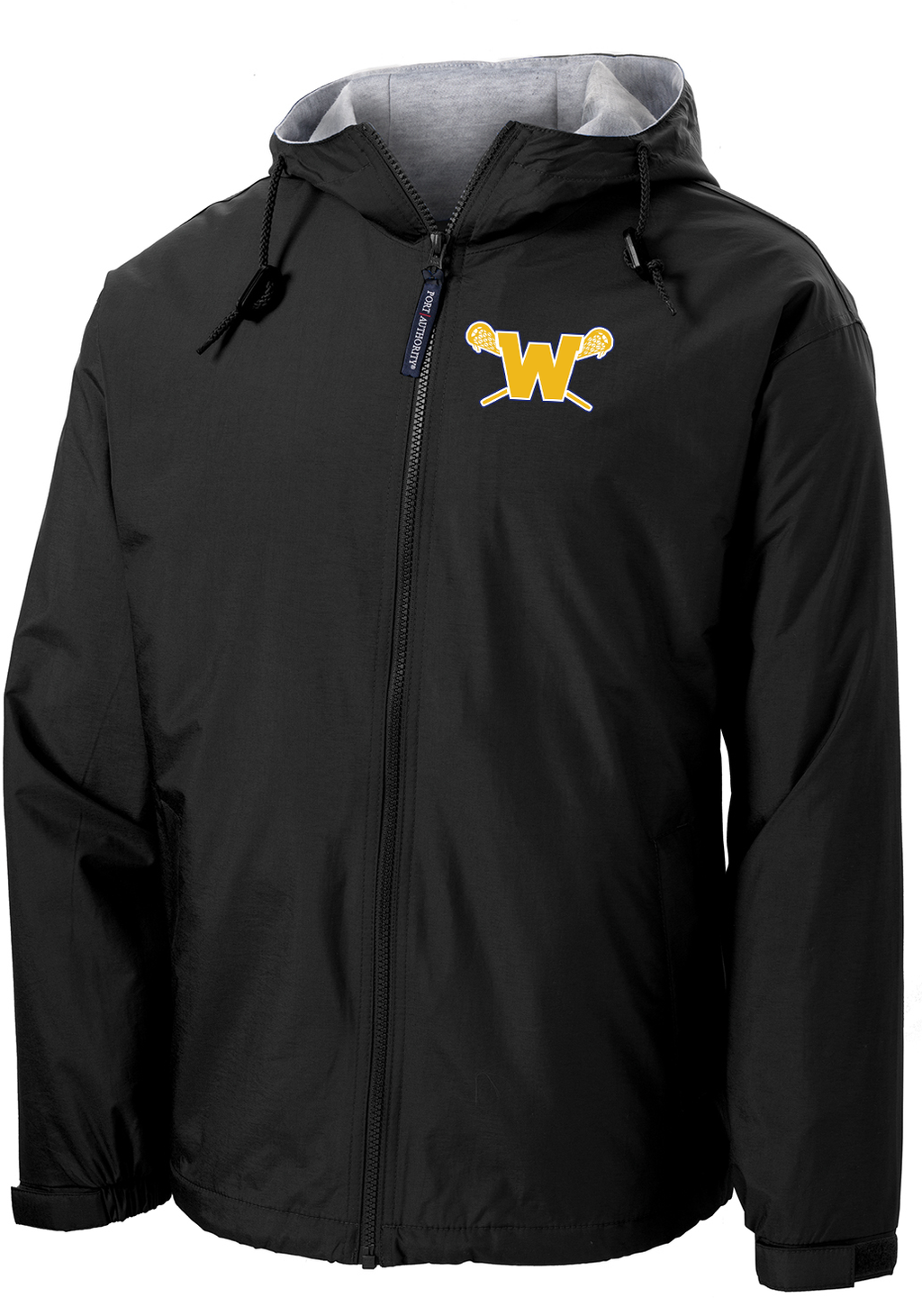 Webster Lacrosse Black Hooded Jacket
