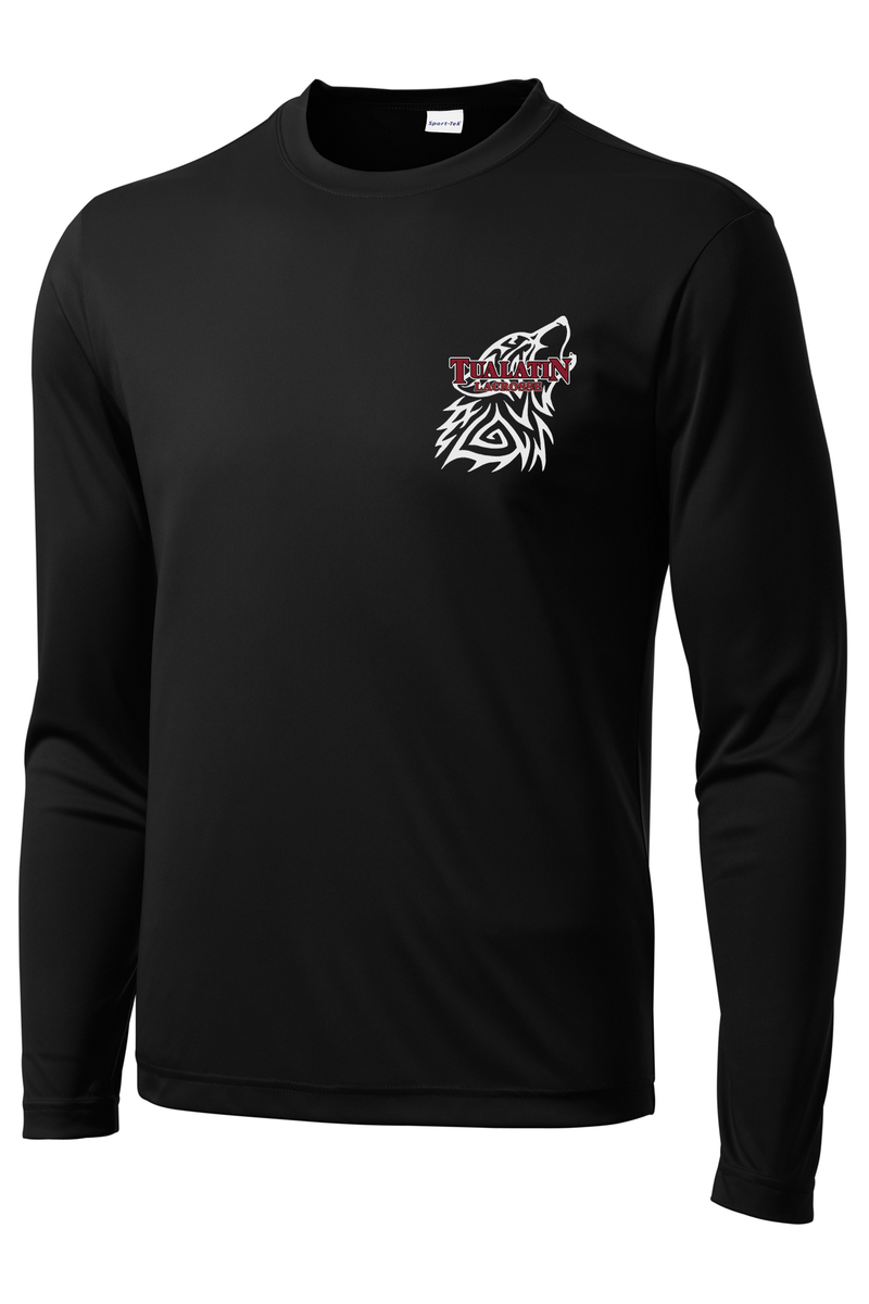 Tualatin Black Long-Sleeve Performance Shirt