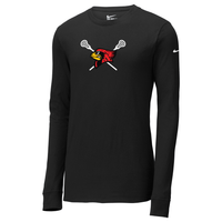 Bellaire Lacrosse Nike Core Cotton Long Sleeve Tee