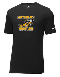 North Beach Wrestling Nike Core Cotton Tee: Quote Logo