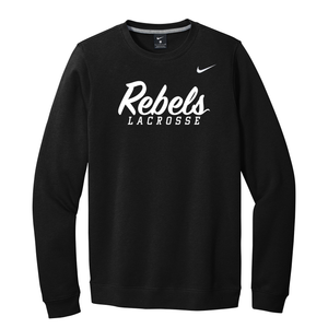 Rebels Lacrosse Nike Fleece Crew Neck