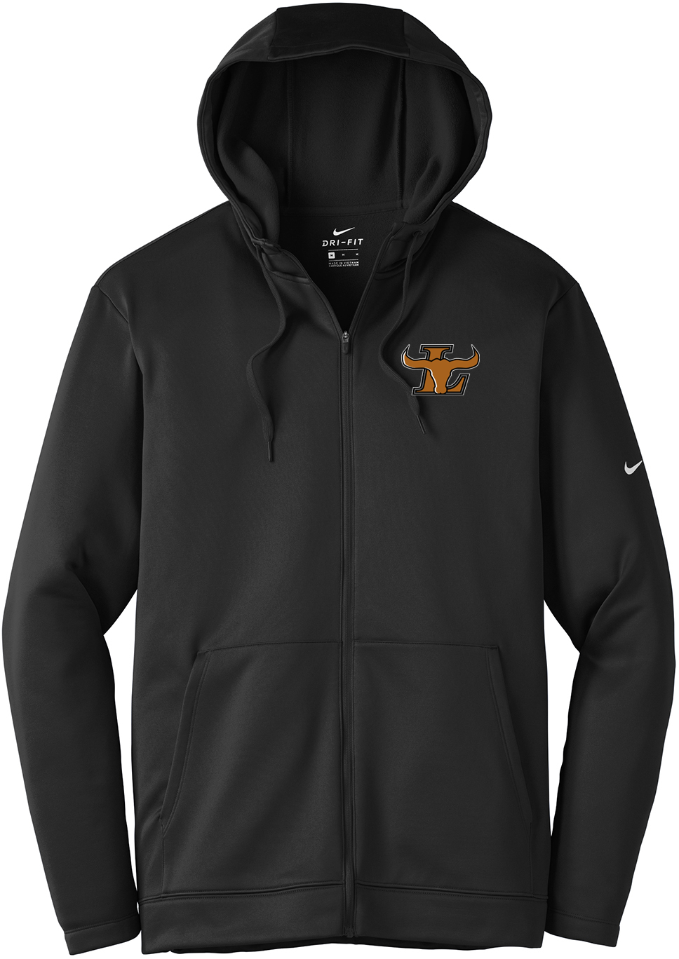 Lanier Baseball Nike Therma-FIT Full Zip Hoodie