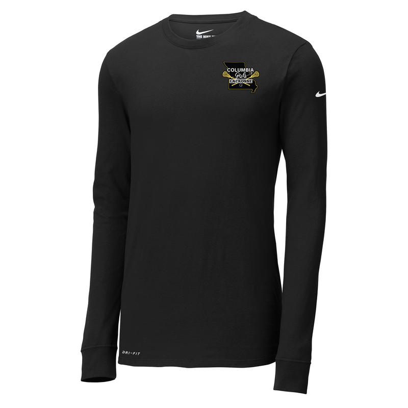 Columbia Girls Lacrosse Nike Dri-FIT Long Sleeve Tee