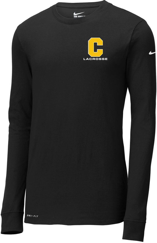 1acc381a32b0 Commack Youth Lacrosse Black Nike Dri-FIT Long Sleeve Tee – Blatant ...