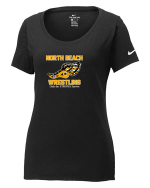 North Beach Wrestling Nike Ladies Core Cotton Tee: Quote Logo