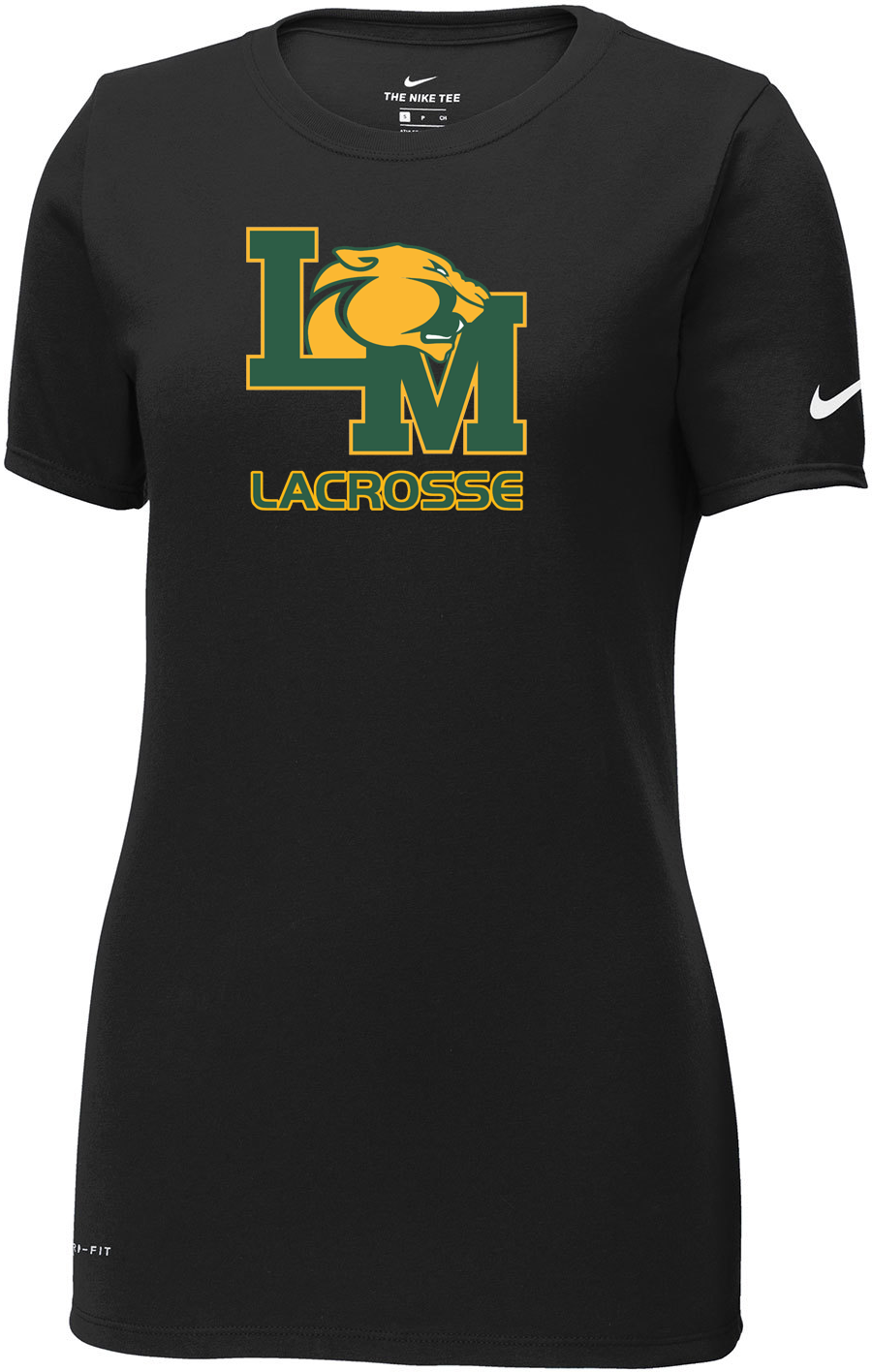 Little Miami Lacrosse Black Nike Ladies Dri-FIT Tee