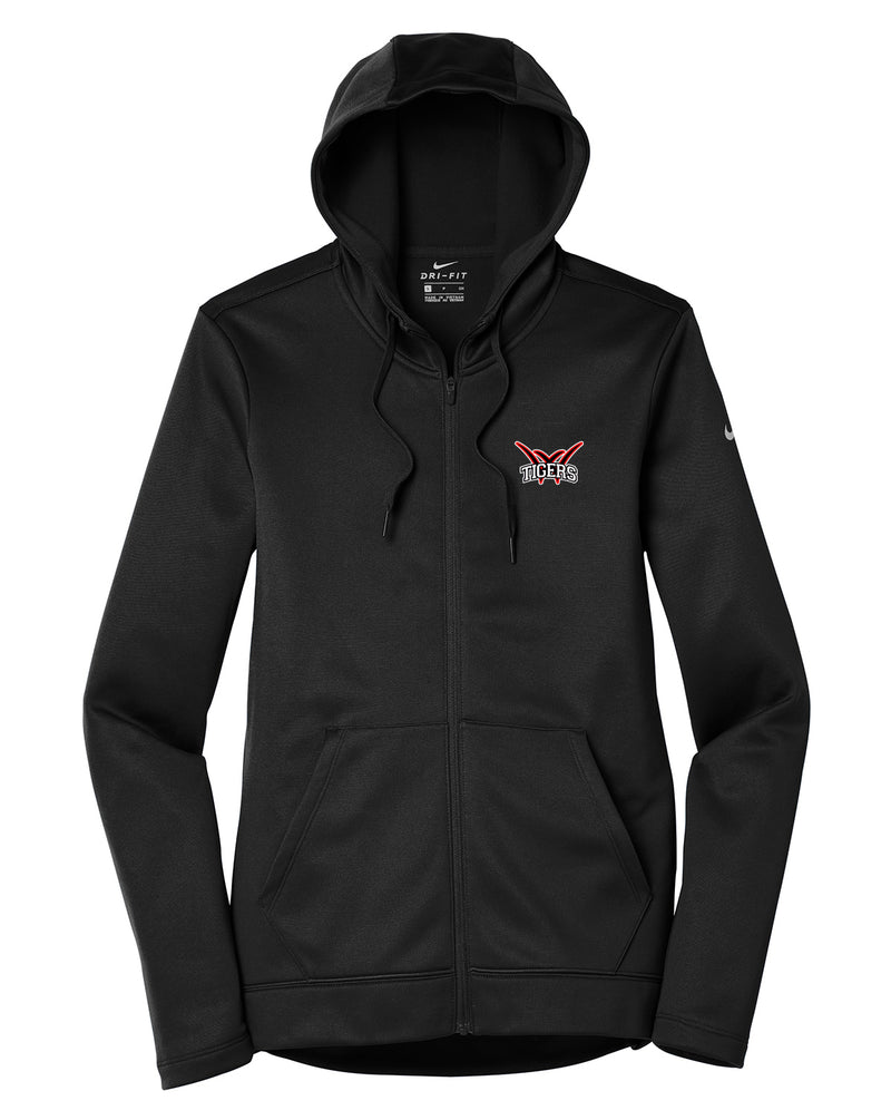 Willard Tigers Baseball Nike Ladies Therma-FIT Full Zip Hoodie