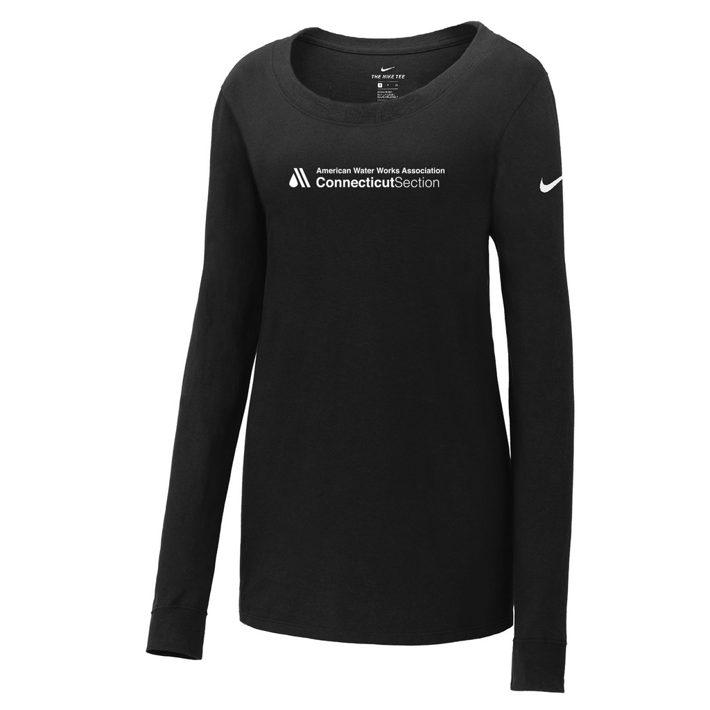 AWWA Connecticut Section Nike Ladies Core Cotton Long Sleeve Tee
