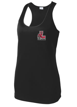 Lancaster Legends Lacrosse Women's Black Racerback Tank