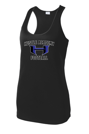 Hustle Academy Football Women's Racerback Tank