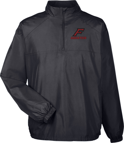 Farmington Aquatics Black Quarterzip Windbreaker
