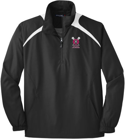 Oxford Youth Lacrosse Men's Black / White Quarterzip
