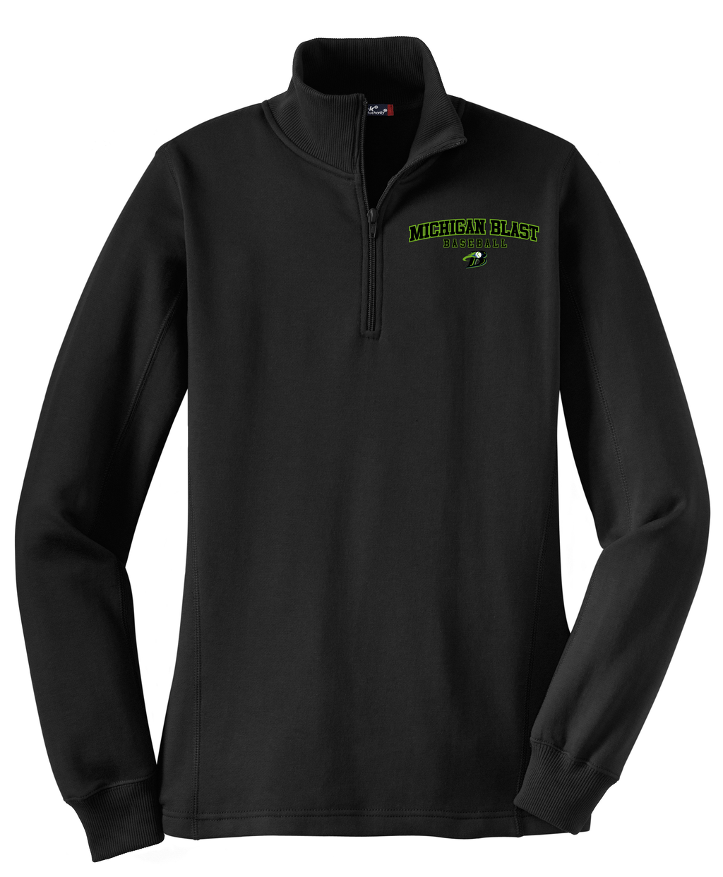 Michigan Blast Elite Baseball  Women's 1/4 Zip Fleece
