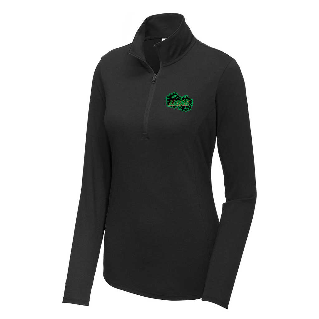 Lanierland Lions Cheer  Women's Tri-Blend Quarter Zip