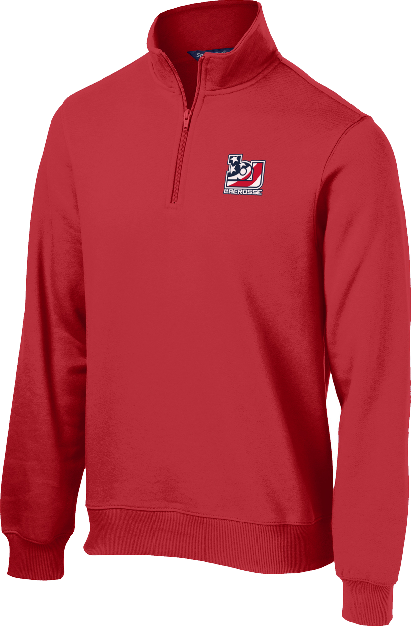 Bob Jones Lacrosse Red 1/4 Zip Fleece
