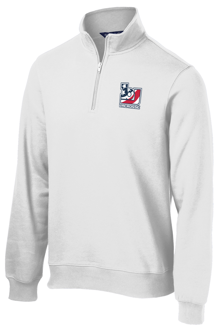 Bob Jones Lacrosse White 1/4 Zip Fleece