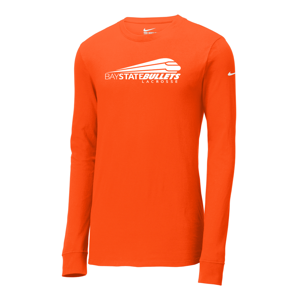 Bay State Bullets Nike Core Cotton Long Sleeve Tee