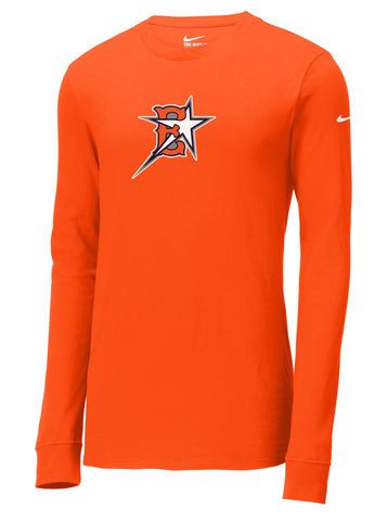 Eastvale Girl's Softball Nike Core Cotton Long Sleeve Tee