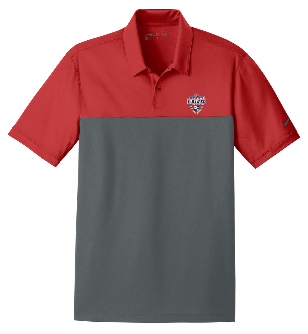 Team Buffalo Red/Anthracite Nike Dri-FIT Colorblock Polo