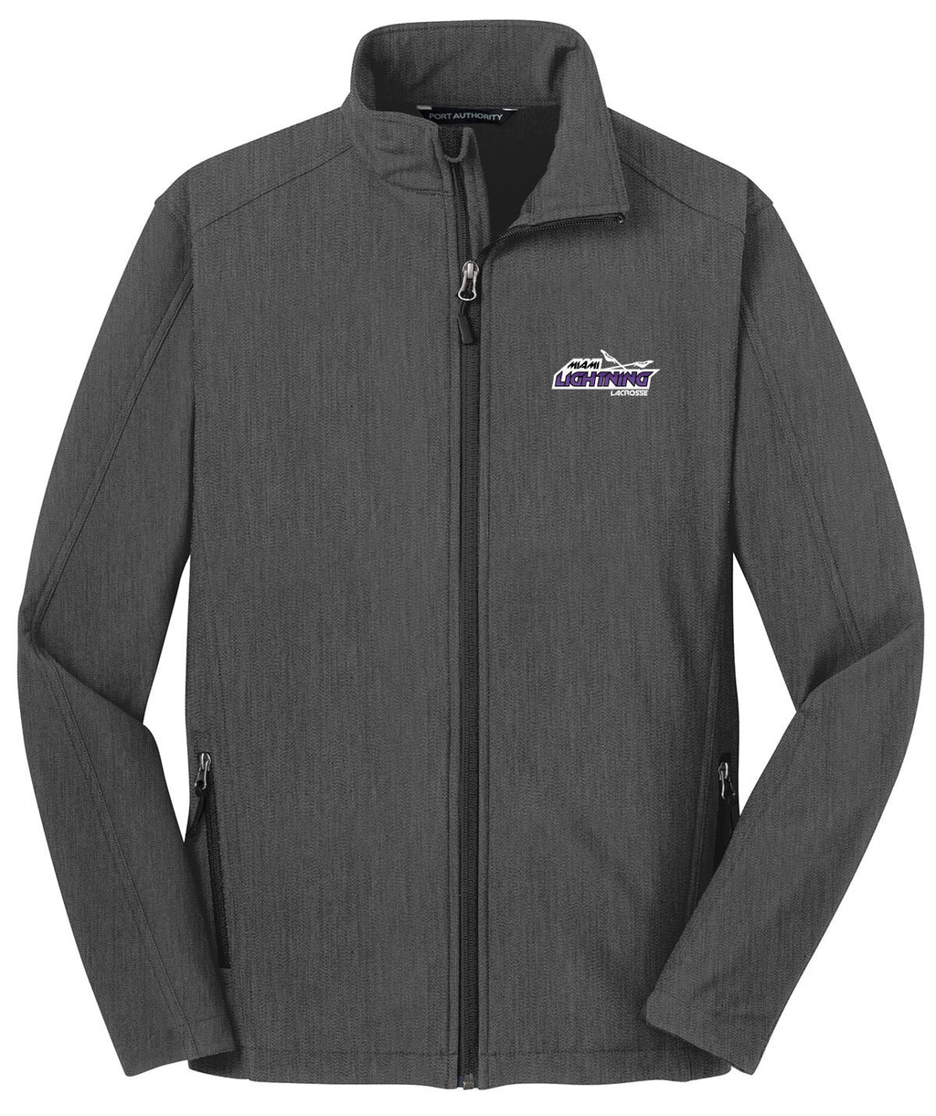 Miami Lightning Charcoal Soft Shell Jacket