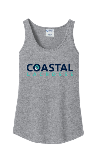 Coastal Lacrosse Women's Grey Tank Top