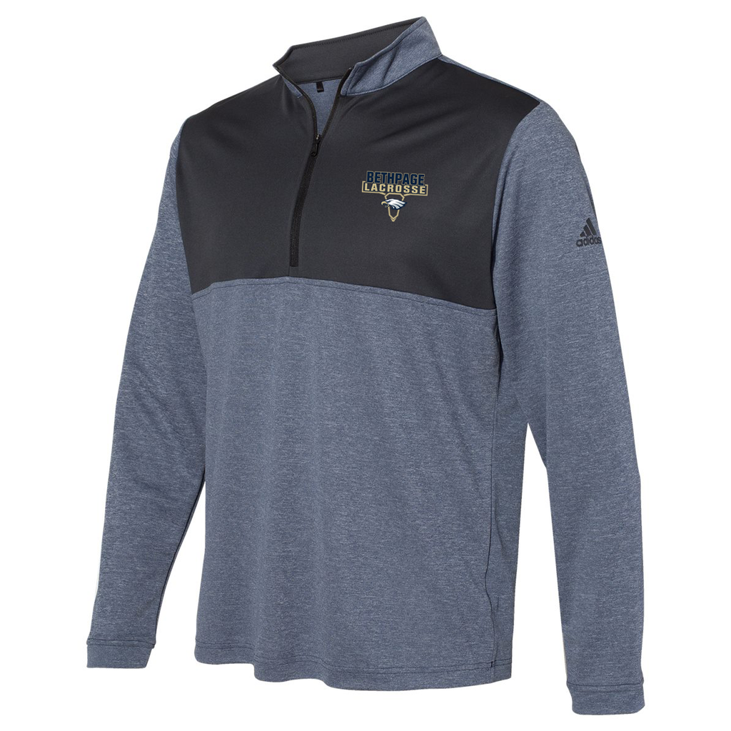 Bethpage HS Lacrosse Adidas Lightweight Quarterzip Pullover