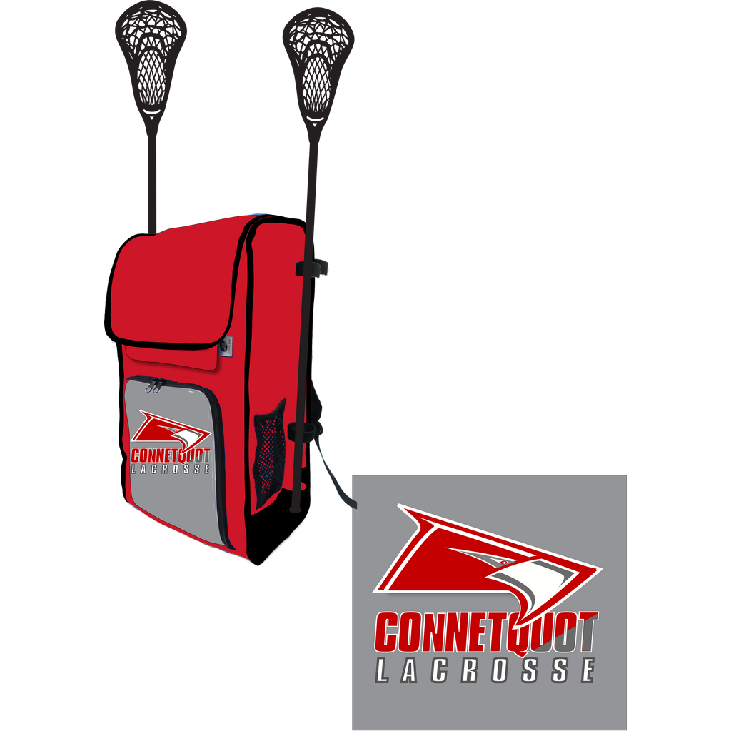 Connetquot Lacrosse Side Lacrosse Stick Holder Large Backpack