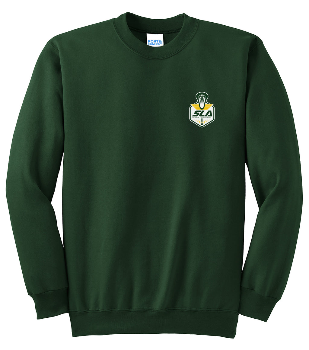 Sycamore Lacrosse Association Dark Green Crew Neck Sweater