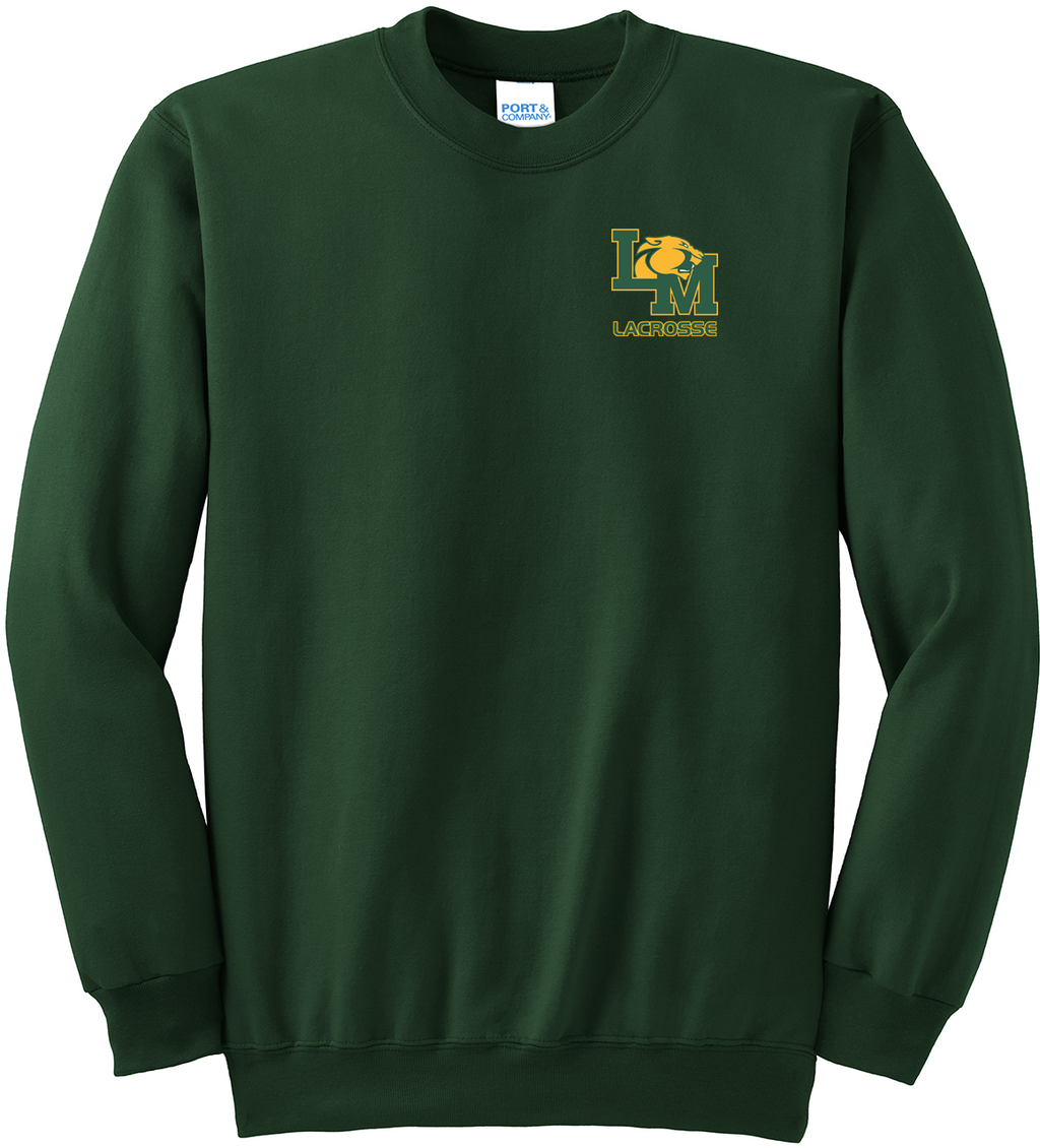 Little Miami Lacrosse Forest Green Crew Neck Sweater
