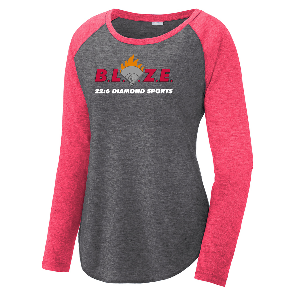 BLAZE 22:6 Diamond Sports Women's Raglan Long Sleeve CottonTouch