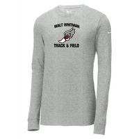 Whitman Track & Field Nike Core Cotton Long Sleeve Tee
