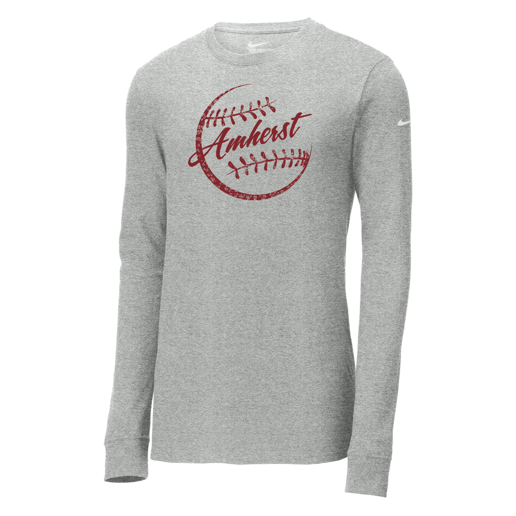 Amherst Softball  Nike Core Cotton Long Sleeve Tee