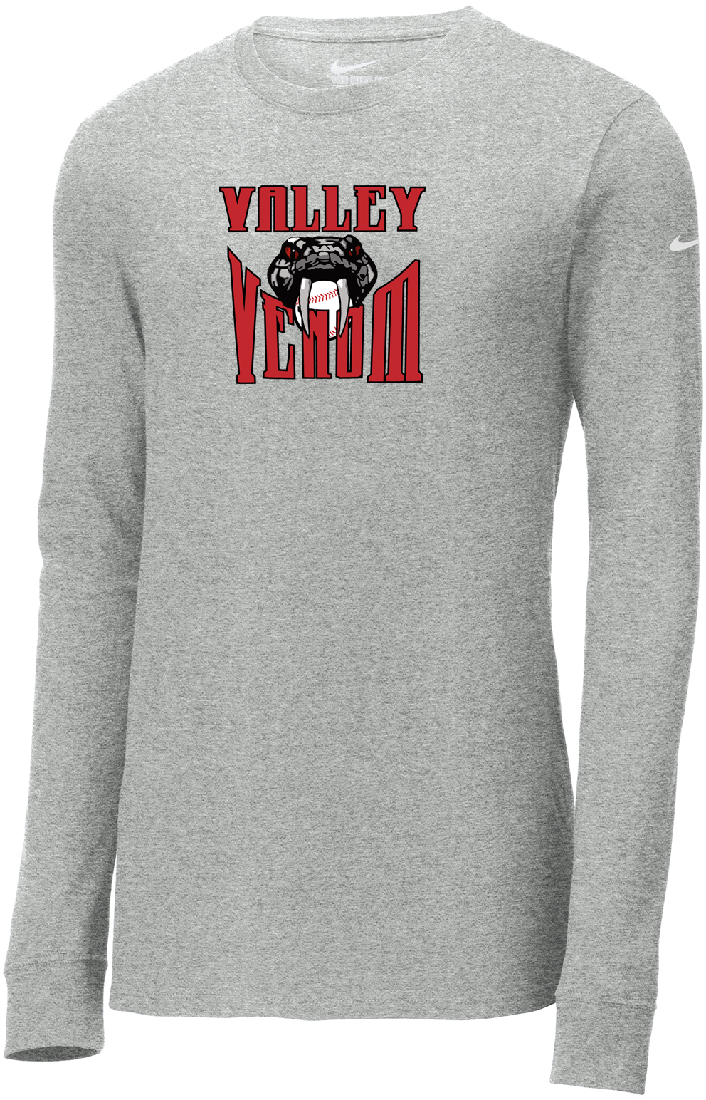 Valley Venom Baseball Nike Core Cotton Long Sleeve Tee