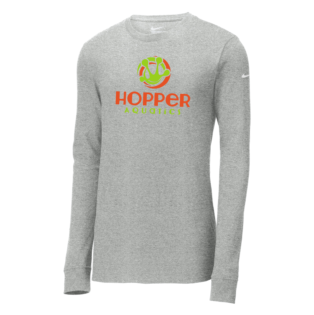 Hopper Aquatics Nike Core Cotton Long Sleeve Tee