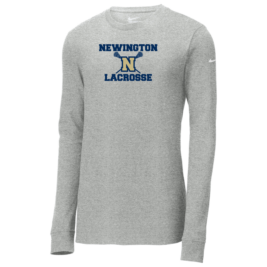 Newington High School Lacrosse Nike Core Cotton Long Sleeve Tee
