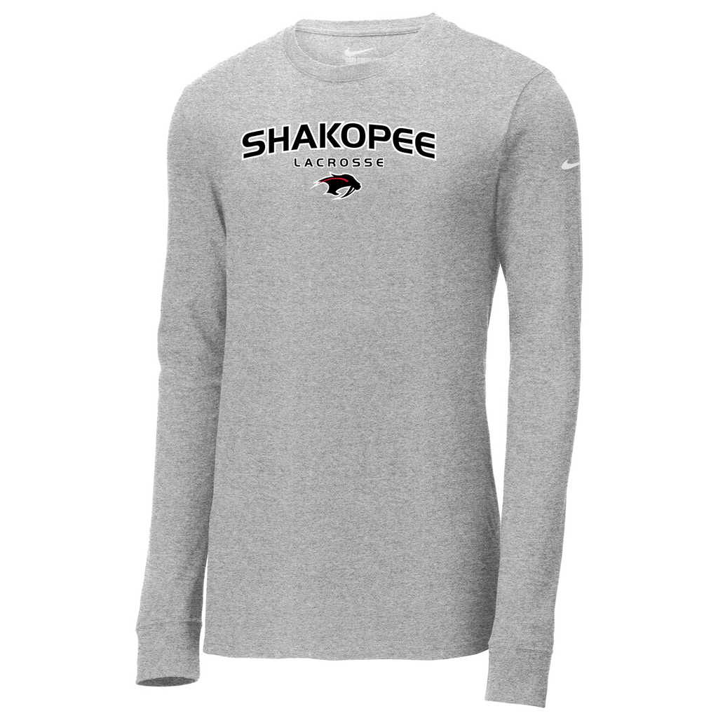 Shakopee Lacrosse Nike Core Cotton Long Sleeve Tee