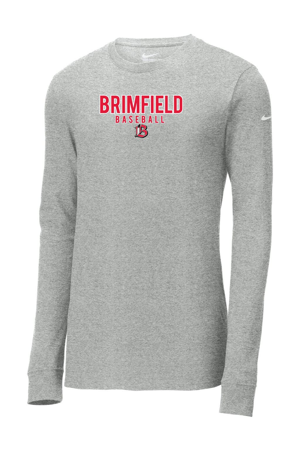 Brimfield Baseball Nike Core Cotton Long Sleeve Tee