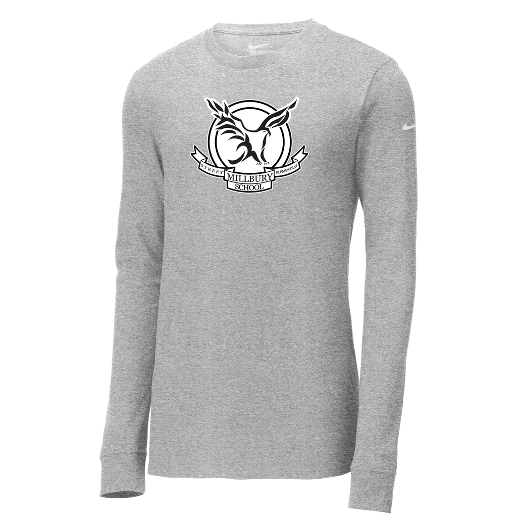 Millbury Street Elementary Nike Core Cotton Long Sleeve Tee