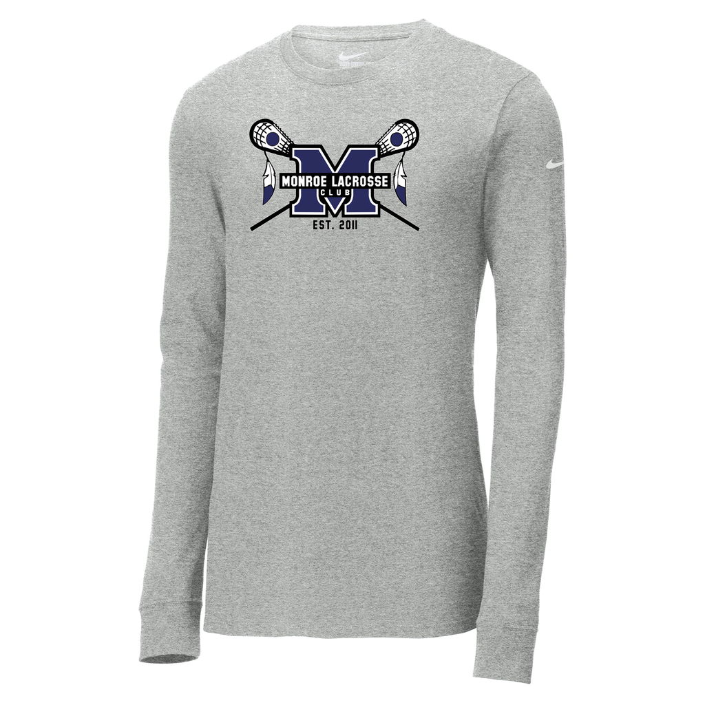 Monroe Braves Nike Core Cotton Long Sleeve Tee