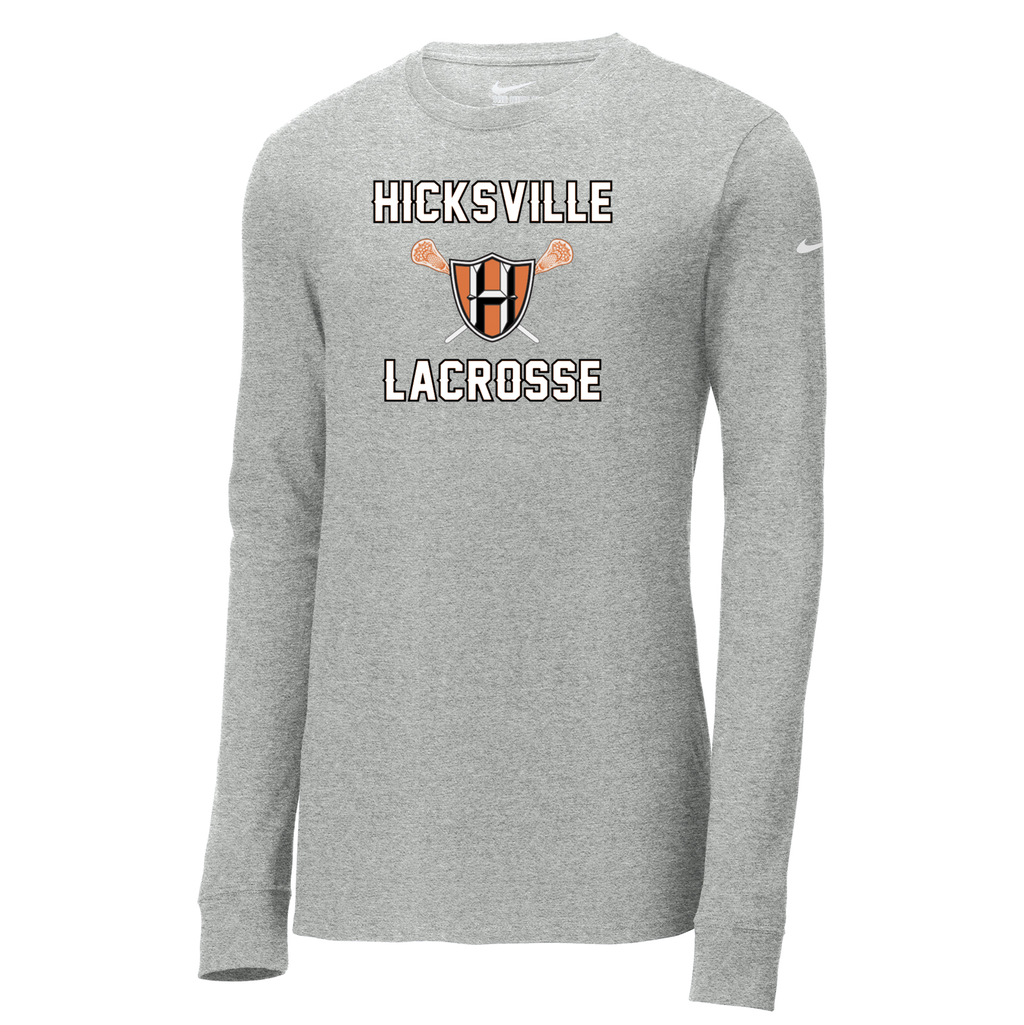 Hicksville Lacrosse Nike Core Cotton Long Sleeve Tee