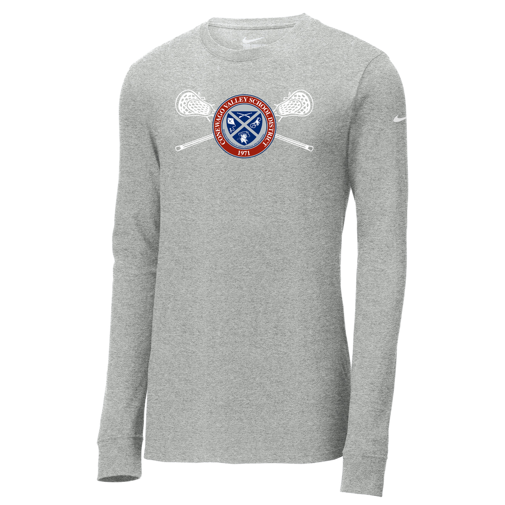 New Oxford HS Lacrosse Nike Core Cotton Long Sleeve Tee