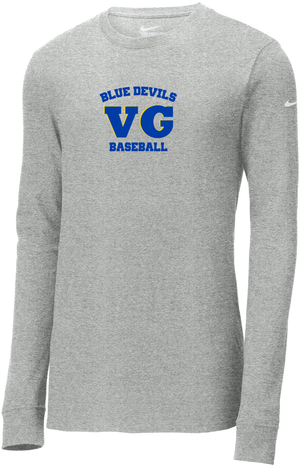 Blue Devils Baseball Nike Core Cotton Long Sleeve Tee