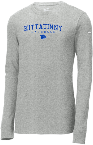 Kittatinny Lacrosse Nike Core Cotton Long Sleeve Tee