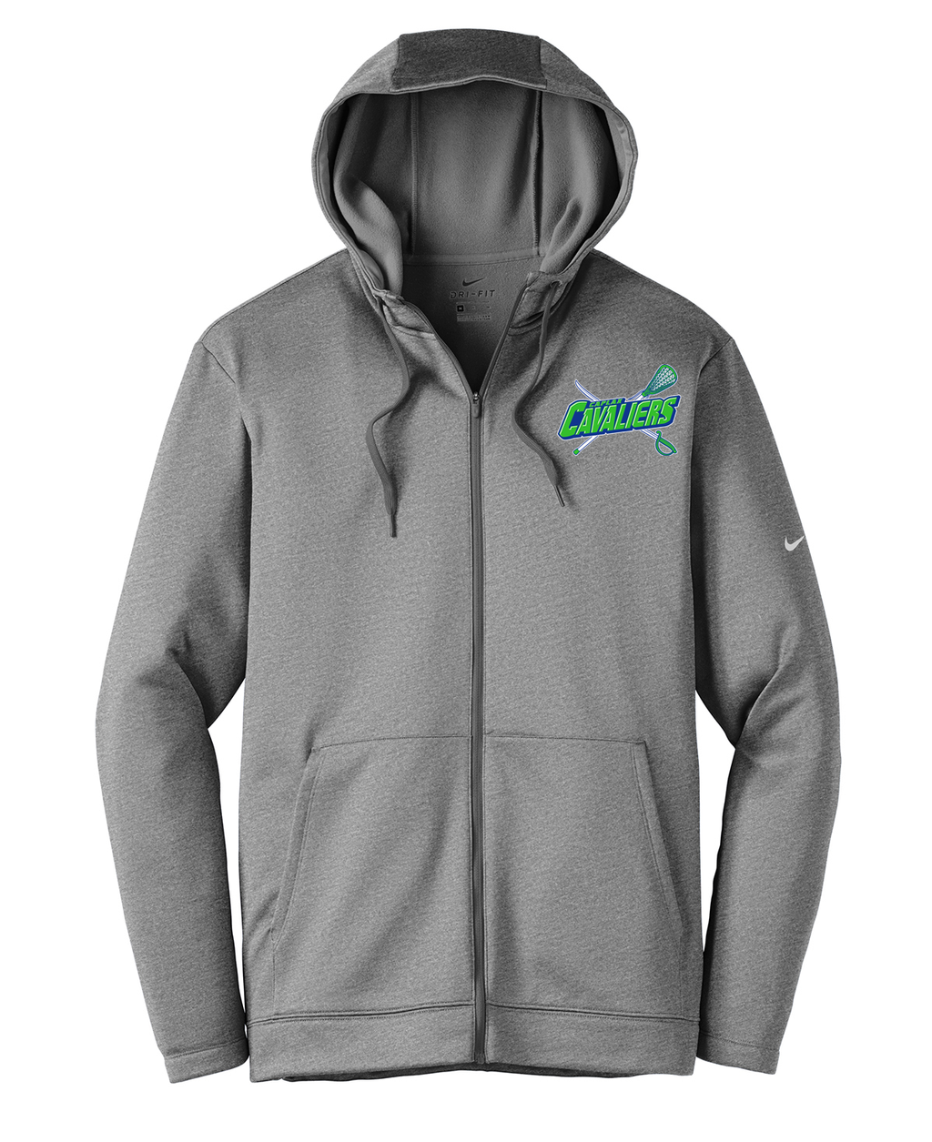 Cavaliers Lacrosse Nike Therma-FIT Full Zip Hoodie