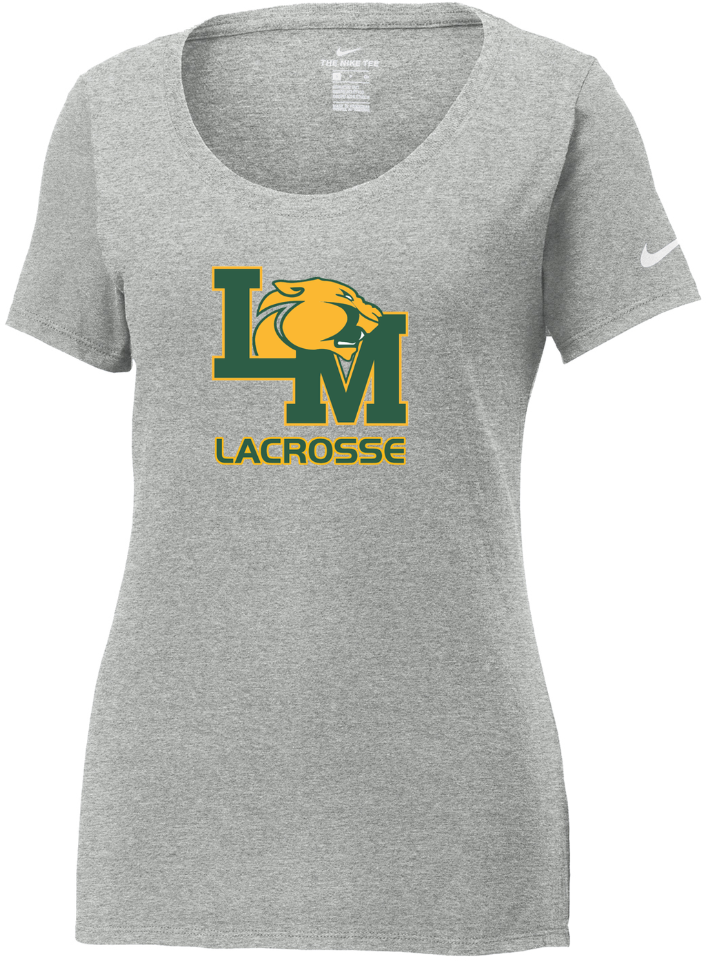 Little Miami Lacrosse Grey Heather Nike Ladies Core Cotton Tee