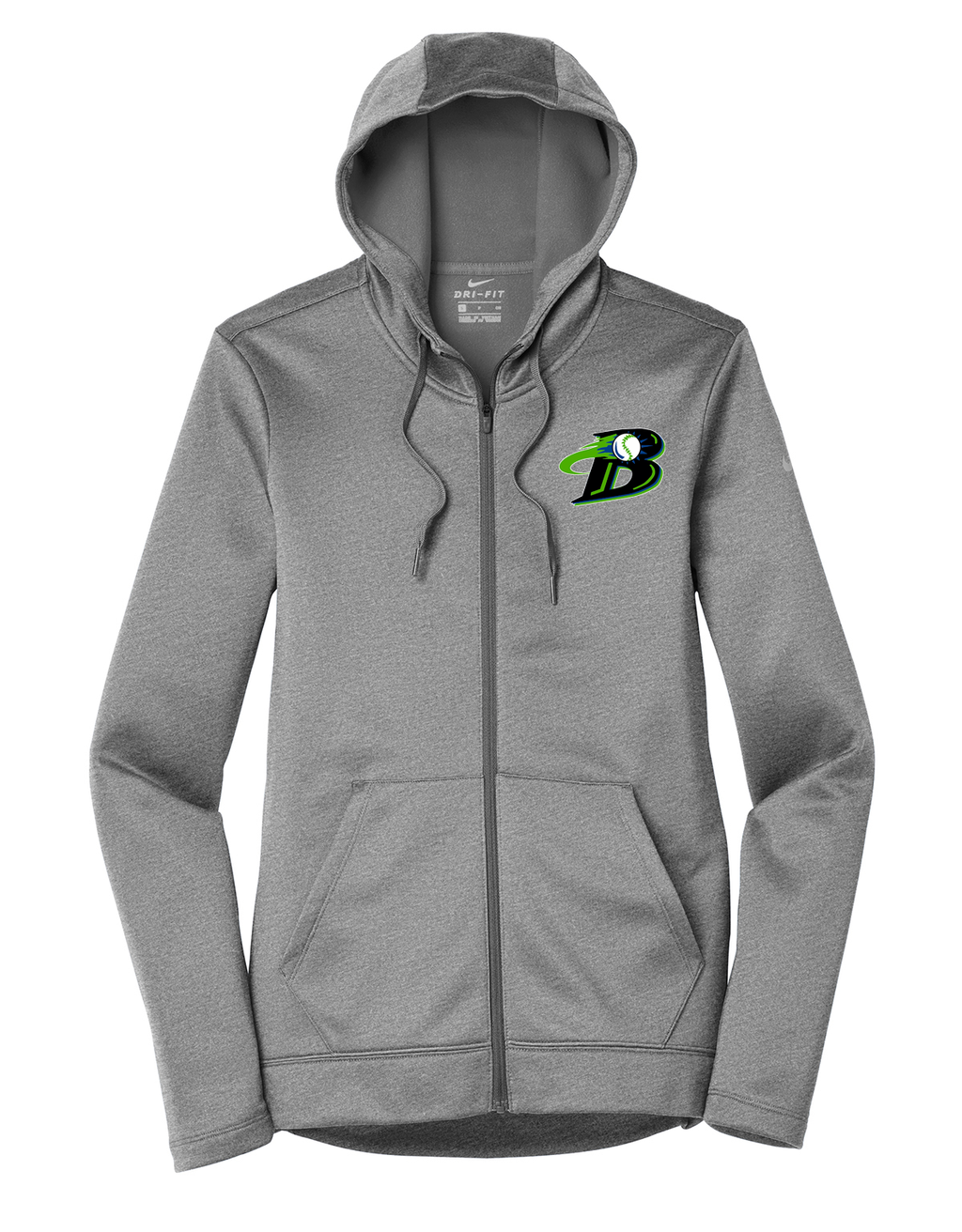 Michigan Blast Elite Baseball Nike Ladies Therma-FIT Full Zip Hoodie