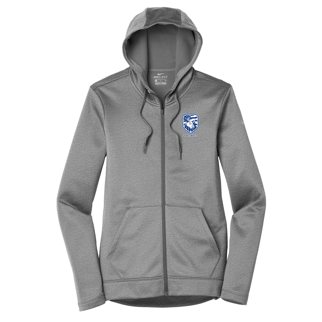 Accompsett Softball  Nike Ladies Therma-FIT Full Zip Hoodie