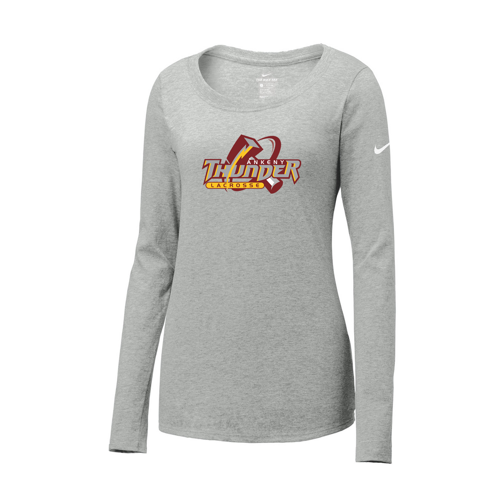 Ankeny Thunder Lacrosse Nike Ladies Core Cotton Long Sleeve Te