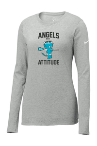 Angels With Attitude Nike Ladies Core Cotton Long Sleeve Tee